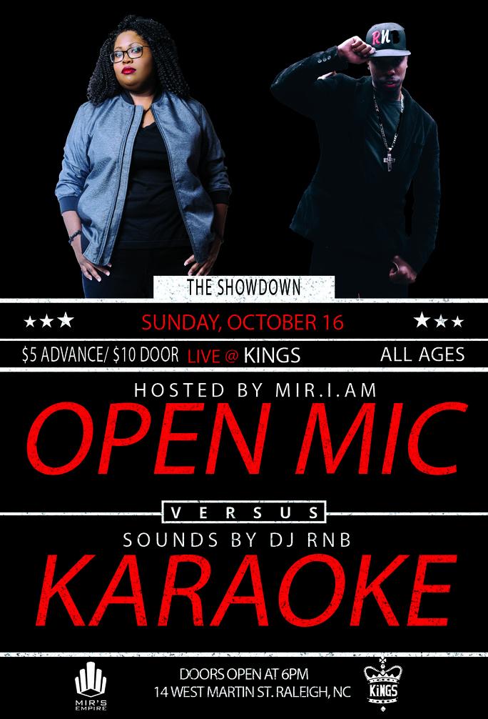 Kings RaleighOpen Mic Vs Karaoke: The Showdown - Kings Raleigh